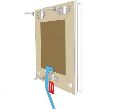 Anti Theft Picture Frame Mirror Hanging System Safe Secure Safety Springlock 9
