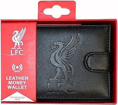 Debossed Crest Rfid Real Leather Football Club Sports Boxed Money Wallet Purse 10