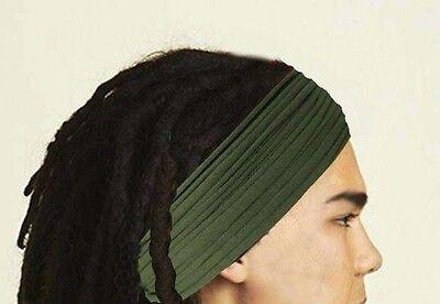 ... Mens Headband Dreadband Head Scarf Turban Dreadlock Wrap Mens Hair  Accessories 6 0252170c87a