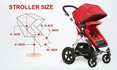 New 2 In 1 Baby Toddler Pram Stroller Jogger Aluminium With Bassinet Black 8