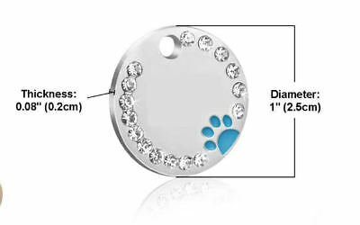 Personalised ENGRAVING Dog ID / Cat ID Name Bling Tag Puppy Pet ID Tags 5