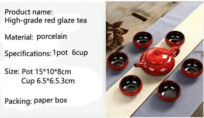 Kung Fu Tea Set Creative 7Pcs Ceramic Tea Sets Taiwan Crack 6 Tea Cups 1 Tea Pot 4