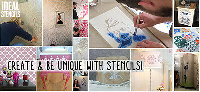Yin Yang Stencil Reusable painting stencils Art Craft Wall decor Ideal Stencils