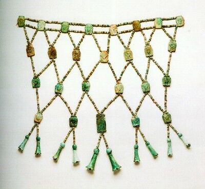 Jewels Ancient Nubia Kush Kerma Egypt Upper Nile Gold Faience Gemstone Amulets 7