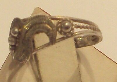 Excellent Early 20Th Century Silver Ring With Open-Work // 887 4