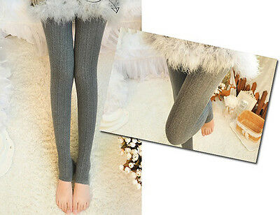 Women Winter Cable Knit Sweater Footed Tights Warm Stretch Stockings Pantyhose j 7