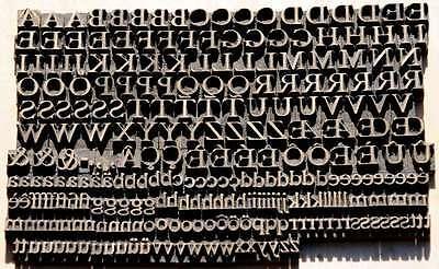 7 mm Prägeschrift Messingschrift Buchbinder Messing Vergoldepresse Buchbinderei 2