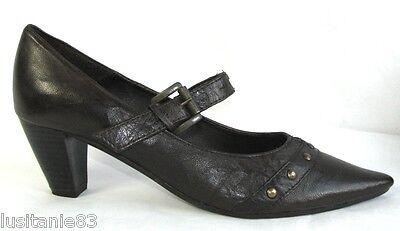 SAN Tout Pointu 41 Chaussures Bout MARINA Cuir Marron PZikOXu