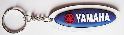 New 2 rubber Yamaha Motorcycle keychain/keyring. Collectible Gift (blue set) 2