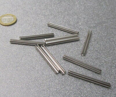 18-8 Stainless Steel Slotted Metric Spring Pin M4 Dia x 40 mm Length, 30 pcs 5