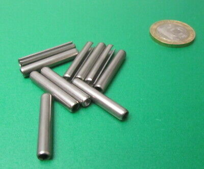 18-8 Stainless Steel Slotted Metric Spring Pin M4 Dia x 26 mm Length, 30 pcs 11