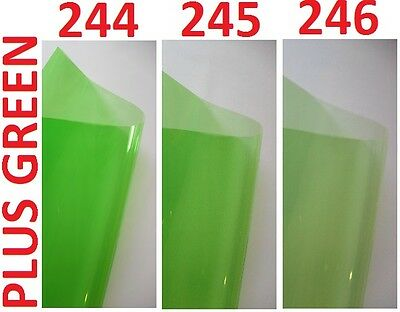 Heat Proof Coloured Transparent Acetate Gel Sheet Crafts Plastic Film Lighting