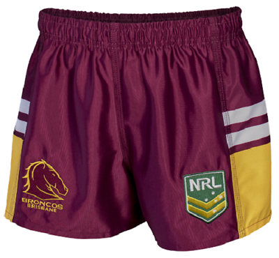 Brisbane Broncos 2018 NRL Footy Shorts Adults Sizes and Kids Sizes 2