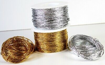 5m /> 100m Paper Covered Craft Florist Wire 2 mm 16 Different Colours