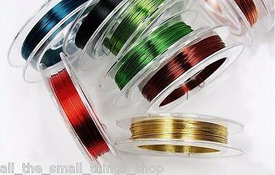 0.4mm Alambre de Cobre Fabricación Joyería Adornos Cuentas Collares - 10 Colores 4