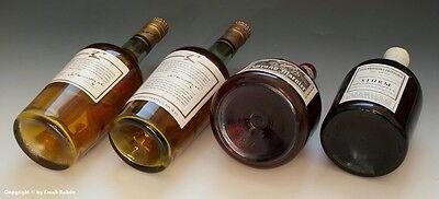 4 x leere Schauflaschen - Dekoflaschen zur Schaufensterdekoration um 1960-65 !? 4