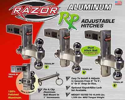 Trimax TRZ8AL-RP Razor Rp 8 Aluminum Drop Hitch
