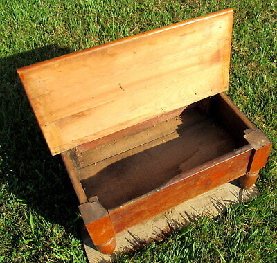 vtg large wooden shoe shine stand primitive unique (LOCAL PICKUP ONLY) 6