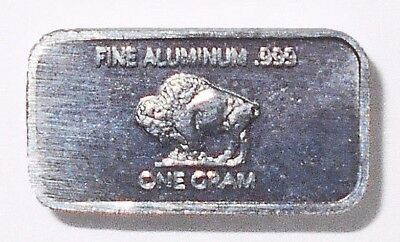 Fine .999 Titanium Ingot 1 Gram Pure Buffalo Bar Collectible Fractional Bullion