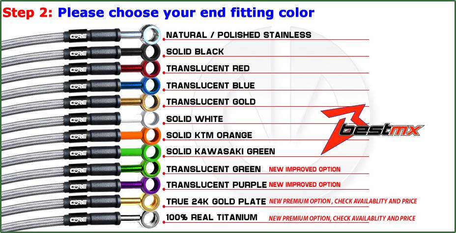 SUZUKI GSXR750 2000-2003 CORE MOTO FRONT /& REAR BRAKE LINE KIT TRANSLUCENT RED