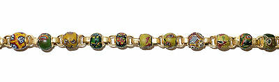 Necklace of Early Islamic Glass Beads Mount in 18k Gold  (0734) 4