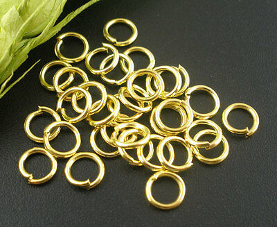 6-7-8-10-13-15 mm Stainless Steel opened Jump rings connectors jewelry findings