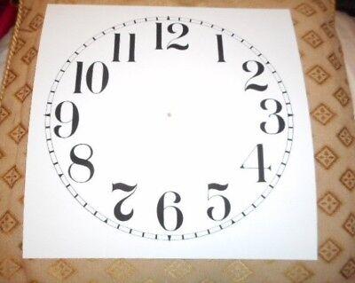 "Large Paper (Card) Clock Dial - 11"" M/T - Arabic - MATT WHITE - Parts/Spares 2"