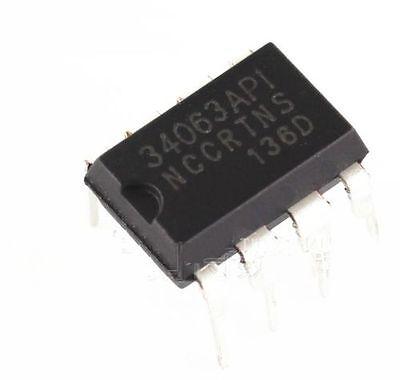 50PCS IC MC34063 MC34063API REG BUCK BOOST INV 8-DIP ON NEW
