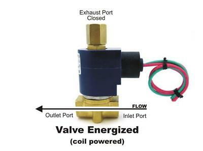 "1/4"" Electric Solenoid Valve 3-WAY 110/120VAC inlet/outlet/exhaust  air etc B30V"