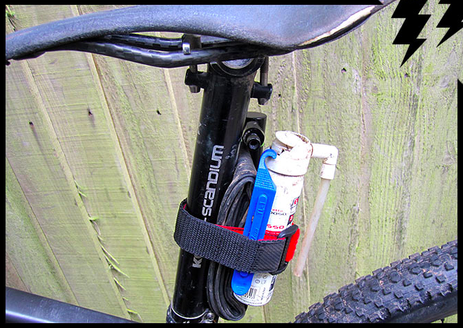 MT ZOOM HANDY STRAP, light saddle bag alternative / bikepacking kit / reflective 10
