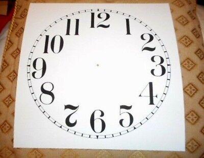 "Large Paper (Card) Clock Dial - 9"" M/T- Arabic - MATT WHITE -  Parts/Spares 2"