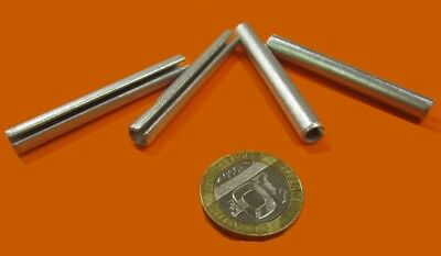 "Zinc Plate Steel Slotted Roll Spring Pin, 1/4"" Dia x 2"" Length, 50 pcs 8"