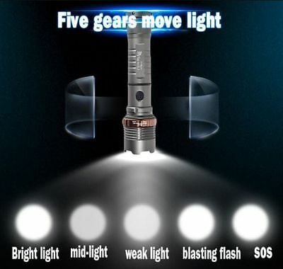 2 x Police Tactical 10000LM CREE XM-L T6 LED Flashlight Torch + Battery+ Charger 3