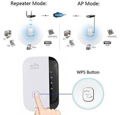 300Mbps Wifi Repetidor Wireless N 802.11 UE Enchufe Señal Del Enrutador nuevoK 2