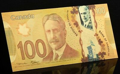 24KT Gold plated $100 Canada bill banknote - FREE SHIPPING&FAST - ON SALE 5