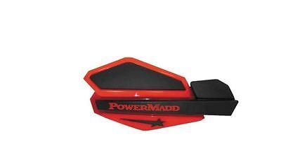 Powermadd Star Series Handguards Guards Tri Mount Black Black ATV Polaris