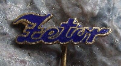 Oval Zetor Tractor Farming Farm Agricultural Machines Advertising Pin Badge