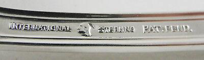 International Sterling Large Solid Cold Meat Serving Fork Pine Tree Monogram W 3