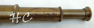 "Antique Victorian Marine Telescope 18"" Maritime Nautical Brass Christmas Gift 4"