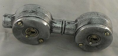 NEW Vintage Industrial Cast Metal 2 Gang Conduit Light Switch - BS EN Approved 2