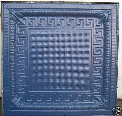 SALE Victorian Art Deco Ceiling Tin Tile Geometric Aztec Egg Dart Chic Fleur De 6
