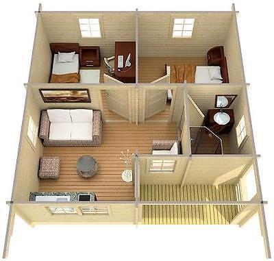 gartenhaus reus ferienhaus blockhaus holzhaus 595 x 595 cm 70 mm eur picclick de. Black Bedroom Furniture Sets. Home Design Ideas