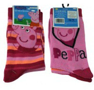 Peppa Pig Pink Socks - Girls - 2 Pack 2