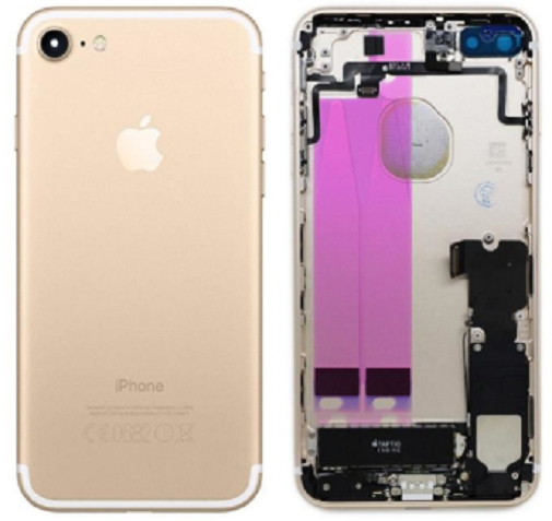 Châssis/Coque arrière pré montée iPhone 7 Or/Argent/Noir/mat/Rouge 3