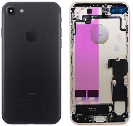Châssis/Coque arrière pré montée iPhone 7 Or/Argent/Noir/mat/Rouge 2