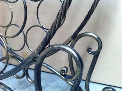 Handmade Iron Elegant French Wine Rack Storage Console Glass Top Table 001 BRS