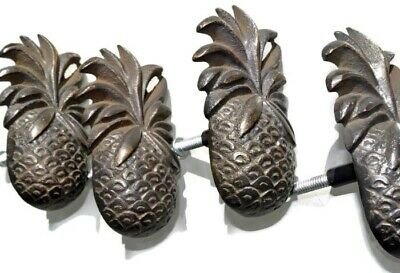 8 small PINEAPPLE solid BRASS knobs TROPICAL VINTAGE old style 75 mm B 2