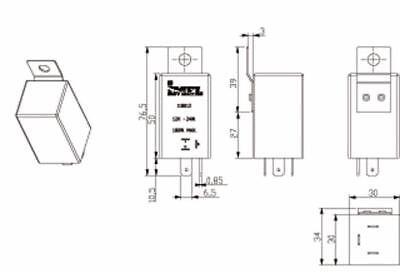 Rele' Universale Intermittenza Frecce 12V W46/180 Macchine Trattore Auto 2