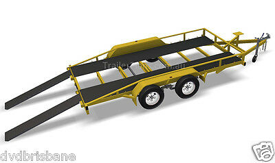 Trailer Plans - 2500KG FLATBED CAR TRAILER PLANS - TANDEM AXLE - PLANS ON CD-ROM 5