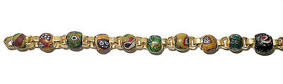 Necklace of Early Islamic Glass Beads Mount in 18k Gold  (0734) 2
